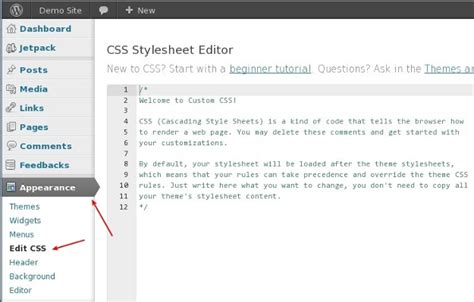 no theme editor in wordpress how to edit css styles in wordpress themes