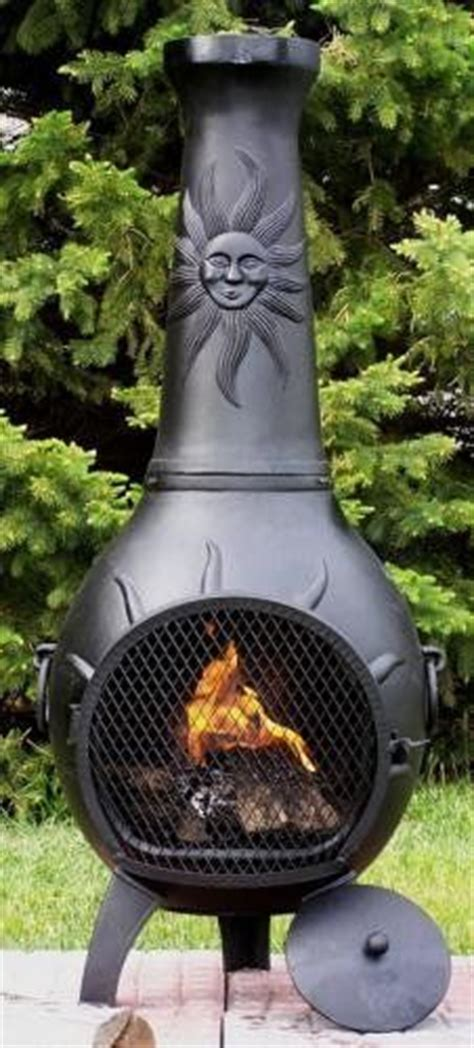 outdoor heaters pits chimineas on