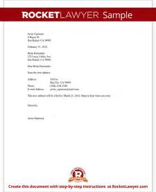 business change of address template notice of change of address letter form template