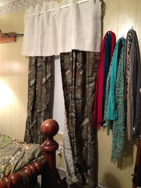diy valance curtains diy burlap valance with camo curtains camo pinterest