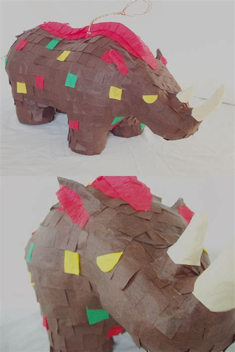 How To Make Paper Mache Pinata - paper mache woolly rhinoceros pinata by paperprimate on