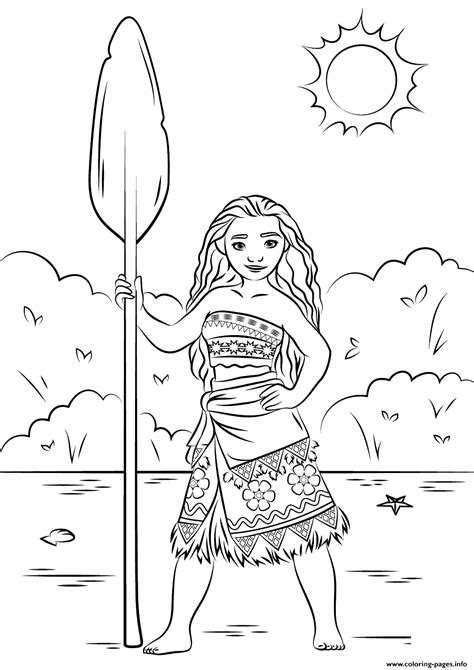Princess Moana Disney Coloring Pages Printable Printable Pages For Coloring