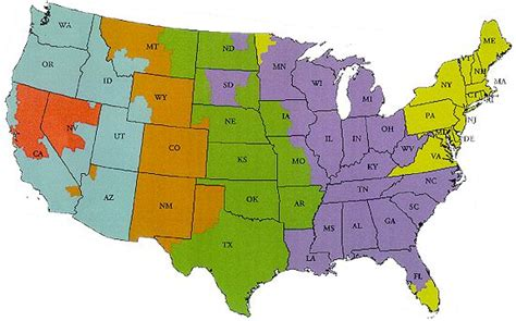 usa map ups map of united states time zones printable clipart best