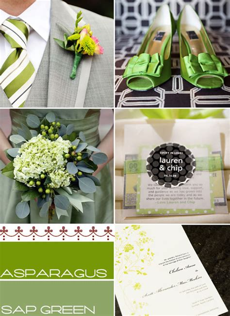 themes for the colour green green wedding themes colours wedding colour palette