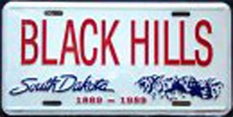 printable paper license plates south dakota south dakota black hills license plates cruising
