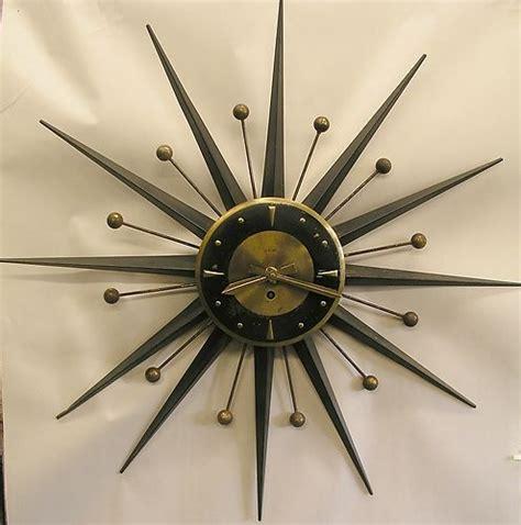 mid century modern wall clocks vintage welby 8 day starburst mid century modern eames era