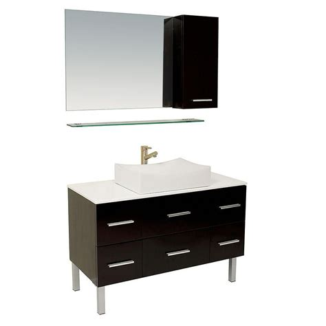 bathroom vanity with side cabinet fresca distante espresso modern bathroom vanity with