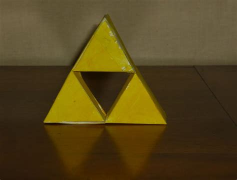 Triforce Papercraft - triforce paper craft by kirbytoad on deviantart
