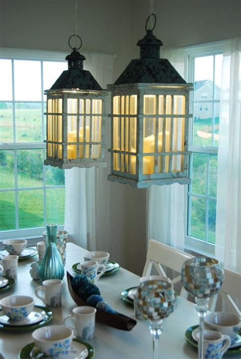 Lantern Light Fixtures For Dining Room Dual Dining Room Lantern Chandelier Hanging Lights Rustic Farm With Candles Diy