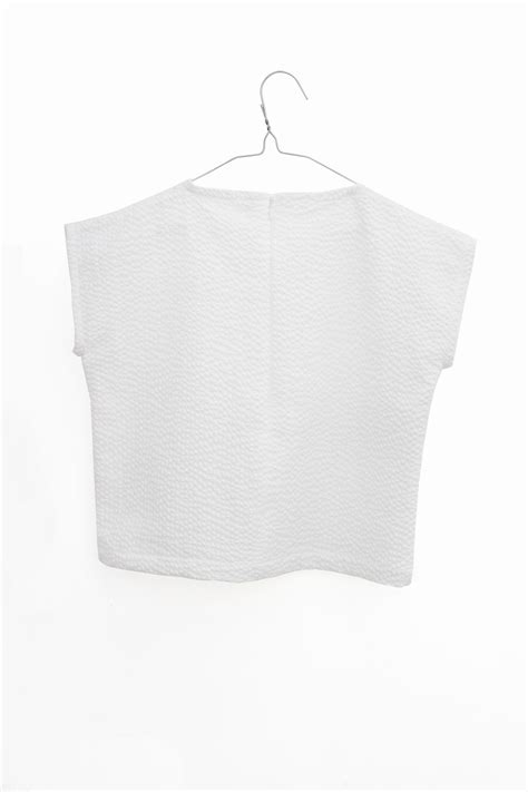 Cinta Blouse by Cinta Blouse White Textured Motoreta