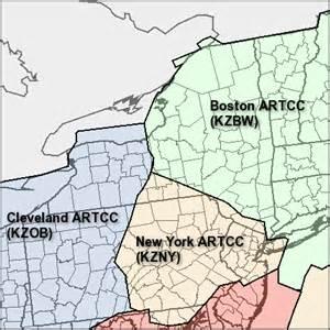 us artcc map aviation