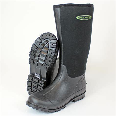 neoprene boots for dirt boot neoprene wellington muck boot womens mens black
