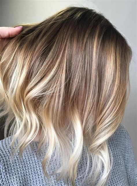 hair colours for short hair 2017 blonde balayage with natural pretty hair color ideas for