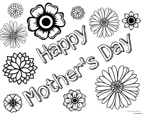 free printable mothers day coloring pages free mothers day happy coloring pages printable