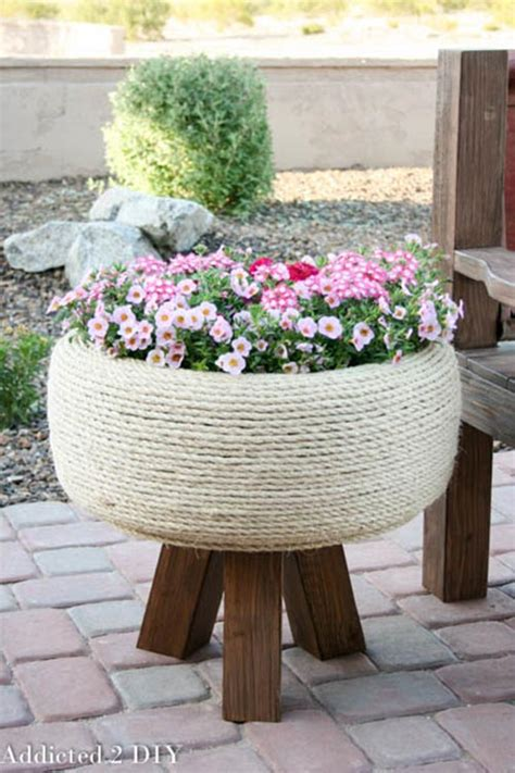 Recycled Tire Planter by 20 Brilliant Ways To Reuse And Recycle Tires Home