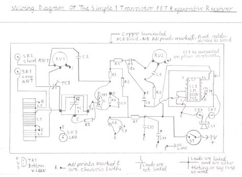 bipolar transistor regenerative receiver pin regenerative shortwave receiver signal processing circuit diagram on