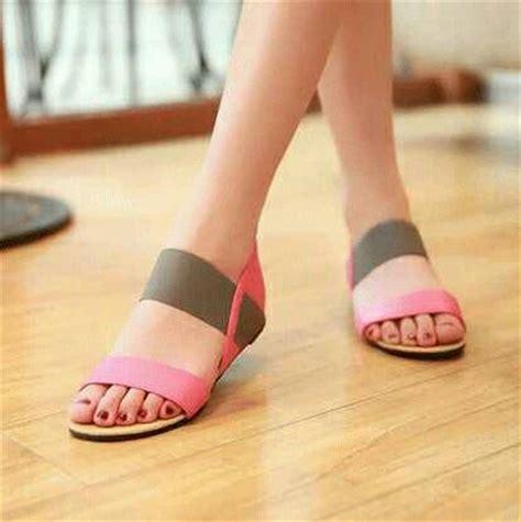 Sendal Sepatu Wanita Teplek Flat Shoes Kode 39 Wedges sandal teplek wanita model terbaru murah flat poppy