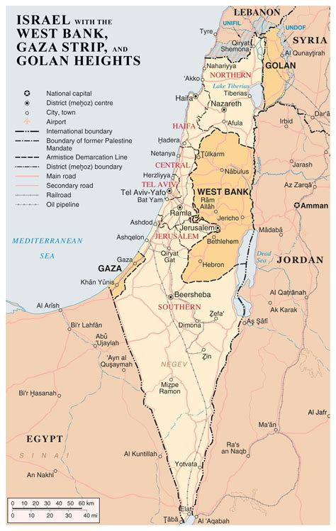 how big is the west bank large detailed map of israel with the west bank gaza