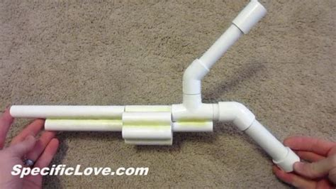 How To Make A Marshmallow Gun Out Of Paper - pvc revolver marshmallow gun blowgun diy all