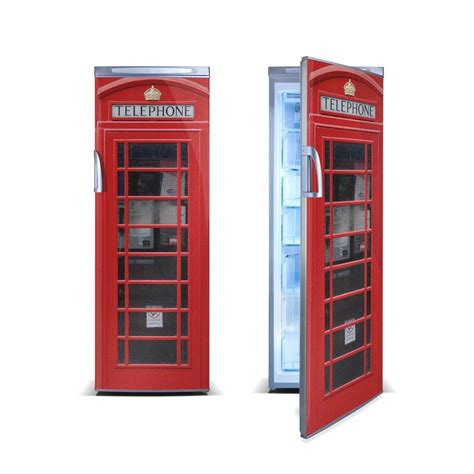 brit box british red telephone box fridgewrap vinyl revolution