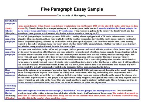 How To Make A 5 Paragraph Essay by Five Paragraph Essay Sle