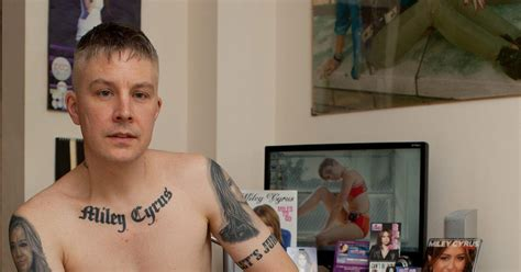 miley cyrus superfan carl mccoid to get miley cyrus portrait tattoos removed ny daily