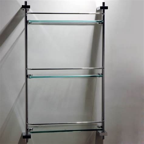 square stainless steel bathroom corner shelf with brass
