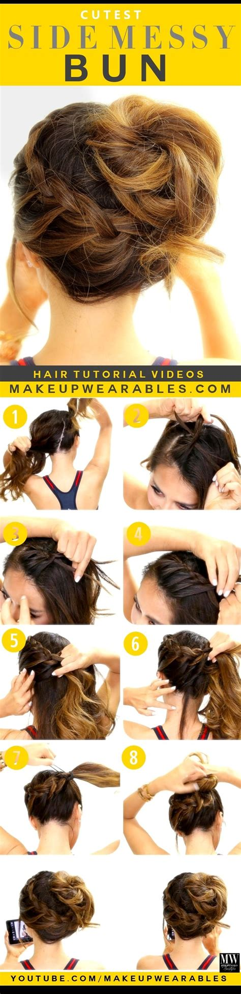 diy hairstyles side bun diy side messy bun pictures photos and images for