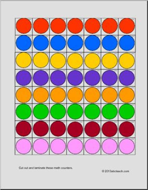 printable board game counters circles multicolor counters abcteach