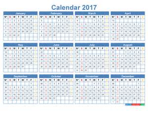 Calendar 2018 Week Numbers 2017 Calendar With Week Numbers Printable Template Steel Blue