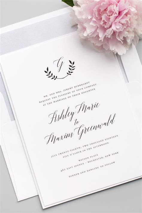 wedding invitations with monograms invitation wreath monogram wedding invitations 2535297 weddbook