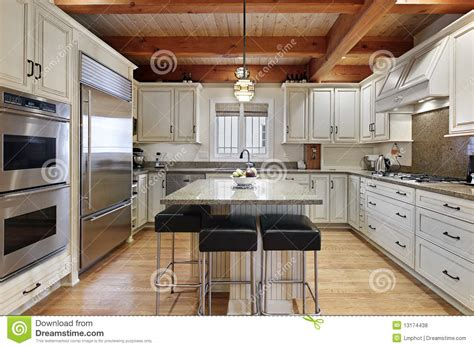 centre islands for kitchens kitchen with center island royalty free stock photos image 13174438