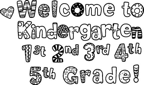 welcome to kindergarten coloring pages coloring pages