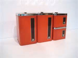 Brown Canister Sets Kitchen by Chrome Canister Set Retro Mid Century Kitchen Storage By