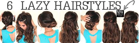 back to school hairstyles for straight hair 6 easy lazy hairstyles how to 5 minute everyday hair styles