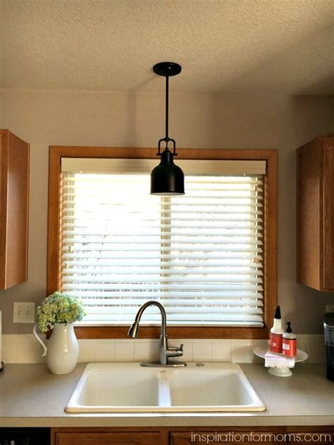 the sink lighting kitchen sink pendant light i like how they paired the