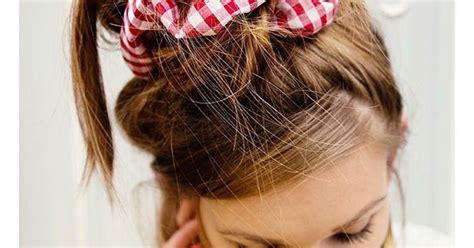scruffy hair bun scrunchie styles that won t make you feel stuck in the 90