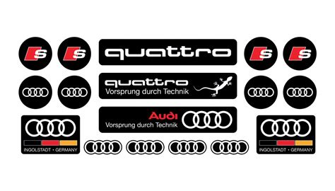 Audi A4 Aufkleber by Audi Domed Sticker Set