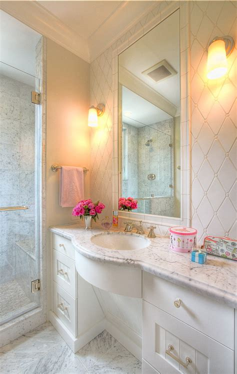 Children S Bathroom Tiles by Family Home With Transitional Interiors Home Bunch