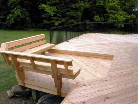 built in benches on decks deck bench with railing plans joy studio design gallery