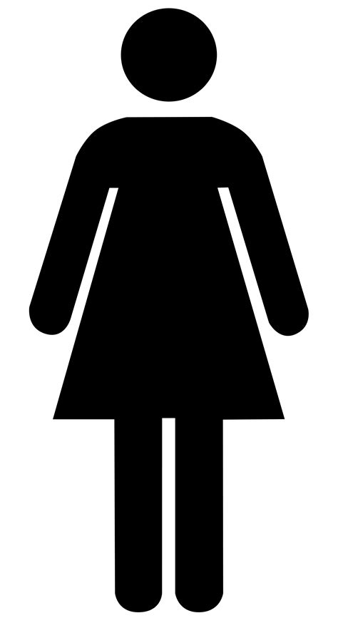 female bathroom sign image the woman toilet sign clipart best