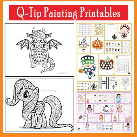 Q Tip Painting Templates And Do A Dot Printables Printables 4 Mom Painting Template Free