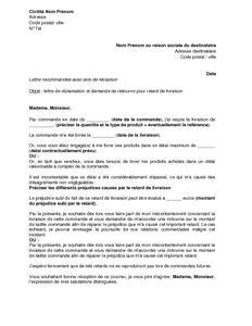 Lettre De Geste Commercial Free Modele Lettre De Reclamation Geste Commercial Mise En