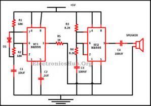 harsha communications police siren circuit using ne555 timer