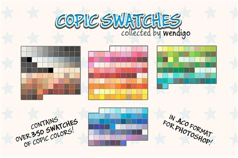 copic swatches for ps collected by wendigo by docwendigo on deviantart