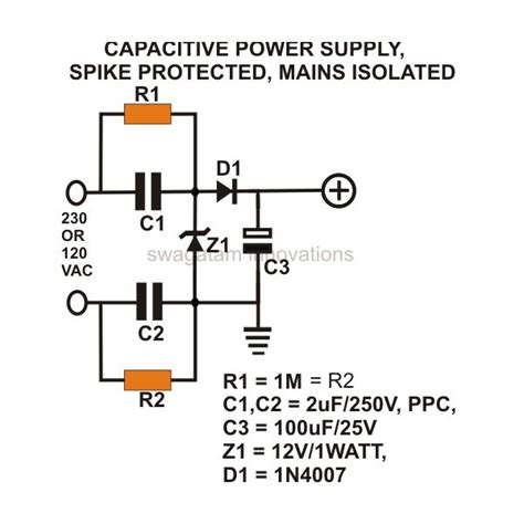 Adaptor 12v 2a By Scr Cctv how to build a low cost and efficient transformerless