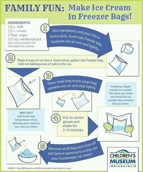 home made ice cream in a bag cool ideas pinterest