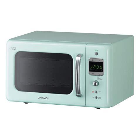 Microwave Daewoo daewoo kor7lbkm compact retro microwave oven in mint green