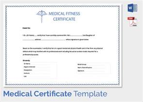 Statement Of Fitness For Work Template by Sle Certificate 27 Documents In Pdf