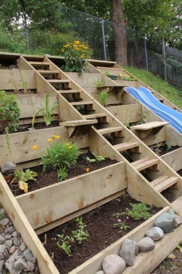 terraced garden beds diy cozy home